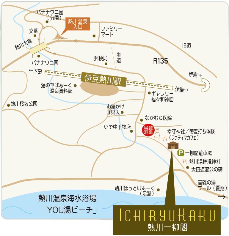 熱川周辺地図